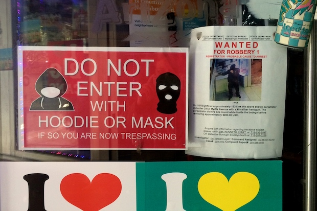 No Hoodies Allowed' Signs Pop Up on Myrtle Avenue in Fort