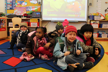 Pre-K children attend class at P.S. 303 in Forest Hills.