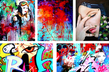 "A sampling of work from the artists featured in ""Quintessential."""