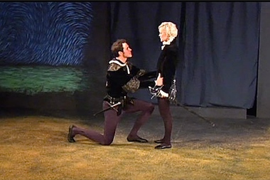 Billie Andersson, right, performs in Shakespeare's