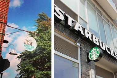 The owner of indie coffee shop The West has started a petition against Starbucks' bid for a liquor license at a second Wiliamsburg location.