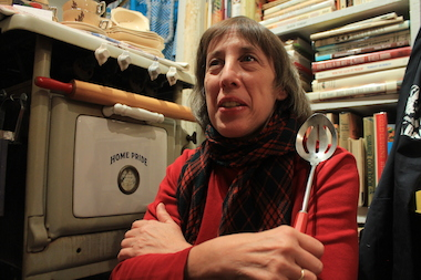 Bonnie Slotnick in her cookbook store on West 10th Street.