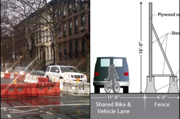 Parking, a bike lane and sidewalks will be affected by new construction starting in December at Atlantic Yards.