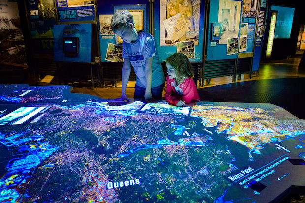 The exhibit examines the science behind natural disasters.