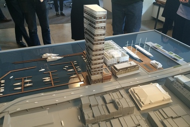 The proposed tower stands at 494-feet tall.