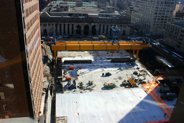 Brookfield Properties, which is behind the $4.5 billion Manhattan West development at 33rd Street and Ninth Avenue, completed its 2.6-acre, 120,000-square-foot platform, which is will be used as a base for its buildings.