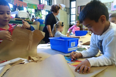 Students at P.S. 295, an arts-focused school in the South Slope.