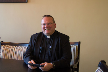 A former St. joseph by-the-Sea student started a petition to remove Father Michaeil Reilly as principal, after a lawsuit alleged the priest hurled vulgar insults at his staff daily.