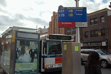 The city installed three new bus countdown clocks around Staten Island as part of a $300,000 allocation by Councilman Steven Matteo to add 15 more of them to stops.