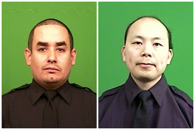 Police Officers Rafael Ramos and Wenjian Liu were killed while sitting in their patrol car in Bed-Stuy Dec. 20, 2014.