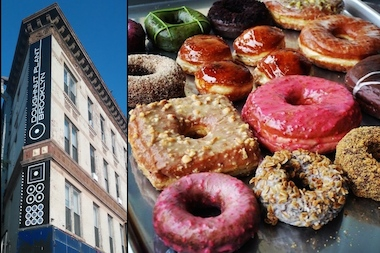 A new Doughnut Plant location will open at 245 Flatbush Ave. in Brooklyn, shown at left.
