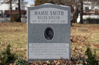 Writer Michael Cala raised money to buy a headstone for blues singer Mamie Smith.