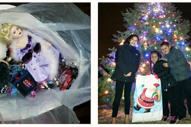 trinity sanchez in the photo on the right with her cousins as the group - Toy Donations For Christmas