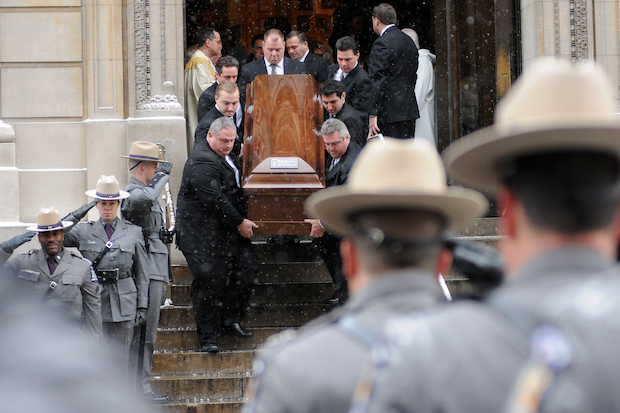 Hundreds of mourners packed into St. Ignatius Loyola, at the Upper East Side, to remember former Gov. Mario Cuomo, who died on Jan. 1, 2015 at age 82.