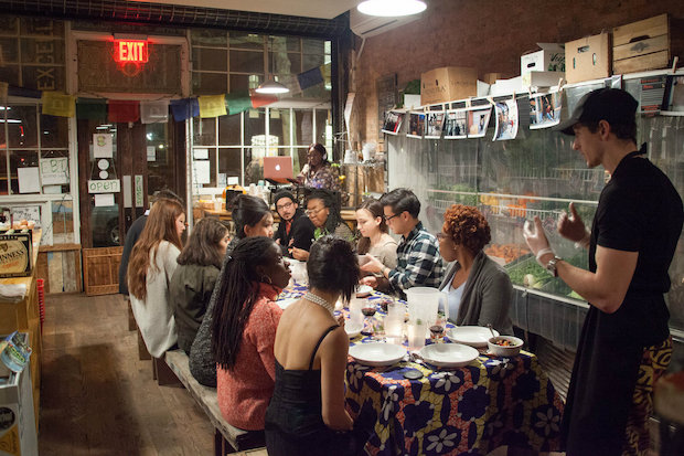 Bed-Stuy Fresh and Local held the grocery's first supper club this weekend, serving Togolese-inspired cuisine with the help of chef Mitch Bloom.