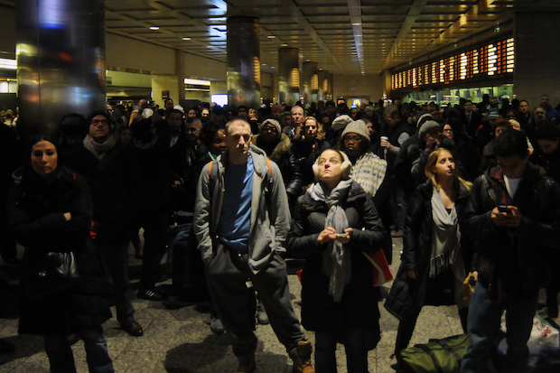 Commuters can expect a packed Penn Station during the Wednesday evening commute with 13 trains canceled due to a broken rail in Queens.