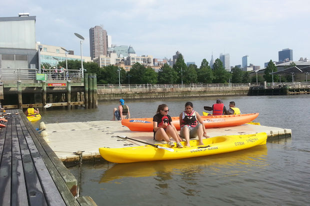 The group that offers free kayaking each summer from piers at West 55th Street and West 72nd Street had one of its expensive docks stolen.