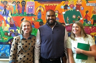 The leadership at Compass Charter School — Michelle Healy, Todd Sutler and Brooke Peters, pictured here, left to right— traveled for nearly a year to learn about best practices from other schools nationwide before opening their Fort Greene school.