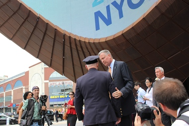 The mayor officially announced the city's bid to host the 2016 DNC last summer. Now, local residents are urging the administration to take steps to reduce impacts to residents around the Barclays Center if the city wins the bid.
