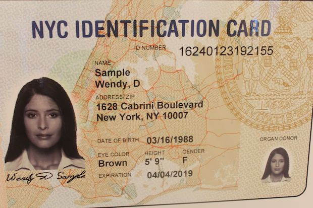 The city rolled out its new municipal ID card program Monday.
