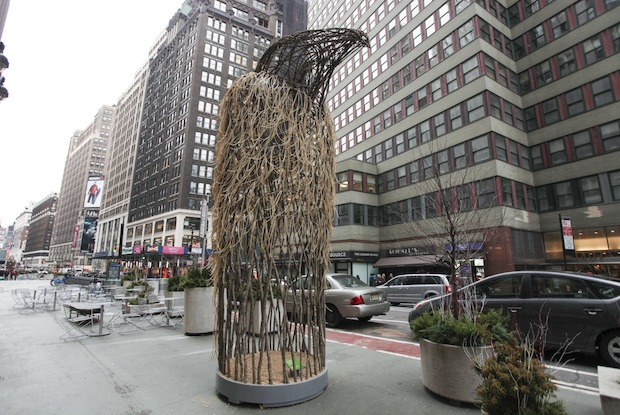 Artists know as Myth Makers unveil their installation in Midtown.