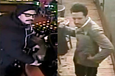 Police are looking for this man, who they believe stole an expensive coat, sunglasses and wallet from a Greenpoint restaurant on New Year's Day.