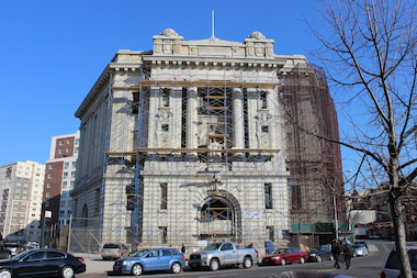The Old Bronx Borough Courthouse has been vacant for decades but will host an art show this spring.