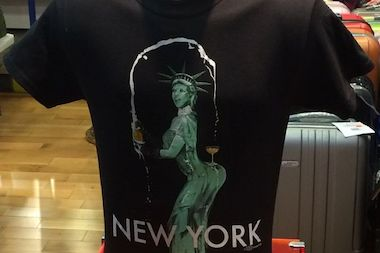 The T-shirt has been flying off the shelves at Phantom of Broadway on West 52nd Street.