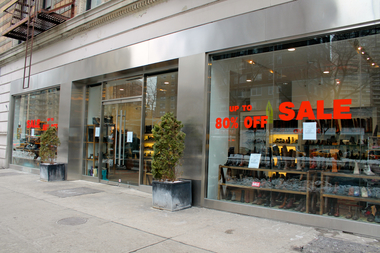 The Tani shoe store space, on West 70th Street and Broadway, has hit the market.