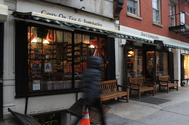 Tea & Sympathy in the West Village refuses to carry American-made Cadbury eggs, and now can't import authentic ones from England, thanks to a lawsuit brought by Hershey against an import company.