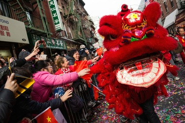 The Chinese New Year Parade on Feb. 2, 2014 in Chinatown. Windsor Terrace is hosting what's believed to be the neighborhood's first ever Chinese New Year celebration on Feb. 21, 2015. The Chinatown Community Young Lions will bless about 15 businesses.