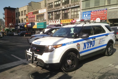 A woman was hit near the intersection of Canal and Mott streets Wednesday morning, officials said.
