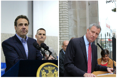 In spite of a history of public disagreements and slights, Gov. Andrew Cuomo said he and Mayor Bill de Blasio will go down in history as having the best political relationship of any state and city government — and he's willing to bet money on it.