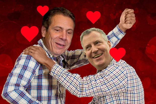 Voter believe there is a feud between Gov. Andrew Cuomo and Mayor Bill de Blasio and that it hurts both the city and the state, according to a new poll from Quinnipiac University.