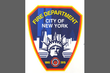 The 150th Anniversary FDNY logo, as designed by Firefighter Richard Miranda.