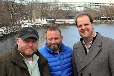 From left to right: Inwood Film Festival organizers Jason Minter, Todd Cerveris and Aaron Simms.