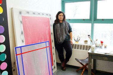 Nicole Mouriño, in her studio, will be one of the first to graduate from Social Practice Queens.