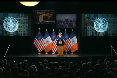 Bill de Blasio gave his second State of the City address on Feb. 3, 2015.
