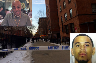 Police arrested Shaquille Fuller, pictured on the right, who they believe is involved in the shooting that killed a man in the East Village Monday afternoon.