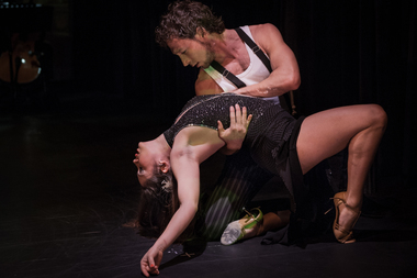 "Yaisri Salamanca and John Hernan Raigosa, two of the dancers in ""Tango 5 Senses"" at Thalia Spanish Theatre in Sunnyside."