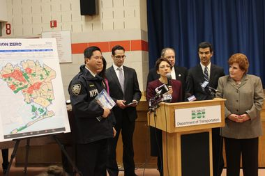 City officials unveiled their plan Tuesday to make streets safer for pedestrians in Queens.