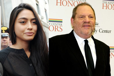 Ambra Battilana said producer Harvey Weinstein rubbed her breasts and thighs at the Tribeca Film Center.