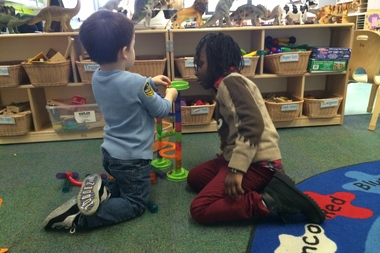 A pre-K class at the Early Childhood Education Center at Brooklyn College.