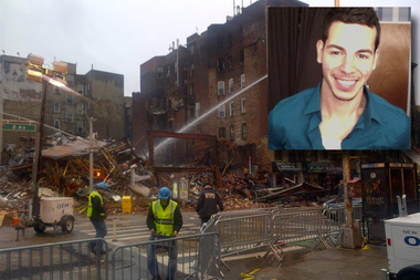 Nicholas Figueroa, inset, and Moises Locon were killed in March 2015's East Village gas explosion. Now Figueroa's family is calling on the City Council to co-name two streets at the site after its victims.