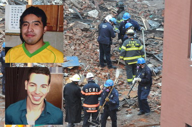 Nicholas Figueroa and Moises Lucon have been missing since the blast, sources said.