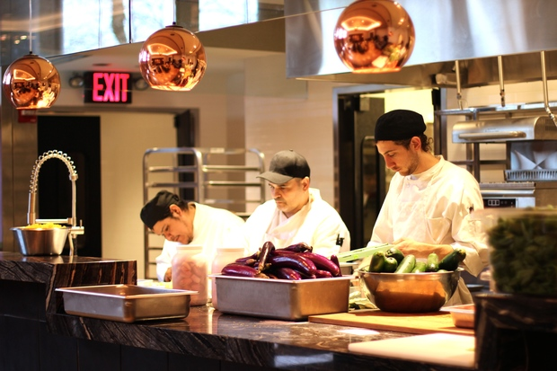 L'Appart, the sit-down eatery at French food hall Le District, now has a Michelin star