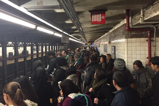 L Trains were runnning with delays in both directions on Tuesday morning.