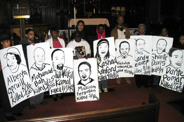 Stolen Lives Induction Ceremony 2014 at St. Mary's Episcopal Church, Harlem.