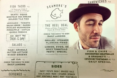 A menu for Seamore's included in Chernow's original application to Community Board 2's liquor licensing committee in 2015.