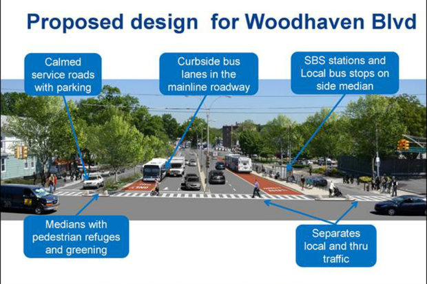 The SBS plan on Woodhaven Boulevard is the longest route in the city.